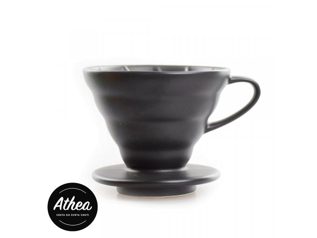V60 Dripper V01 keramický na 1-2 kávy čierny