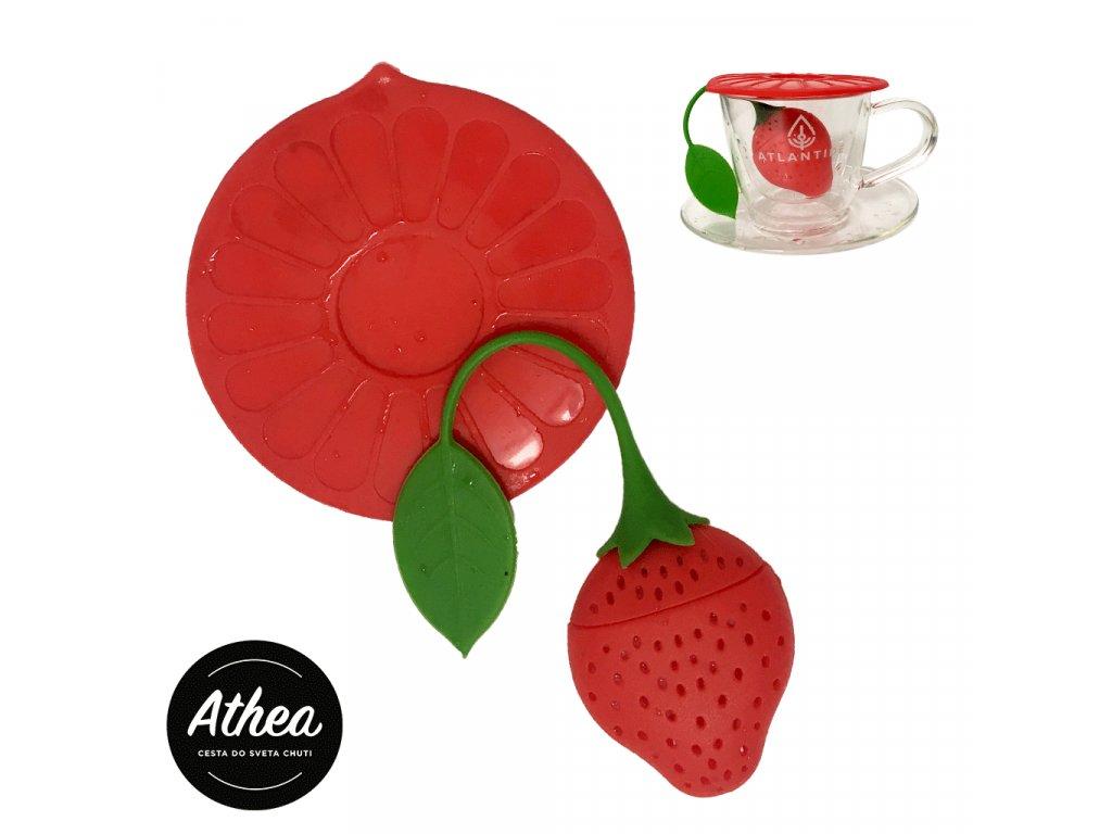 Sitko na sypaný čaj silikónové Strawberry