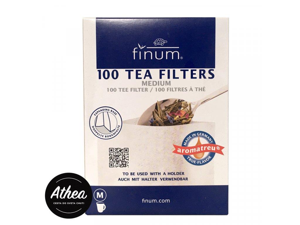 Filtre na sypaný čaj Finum M 100ks