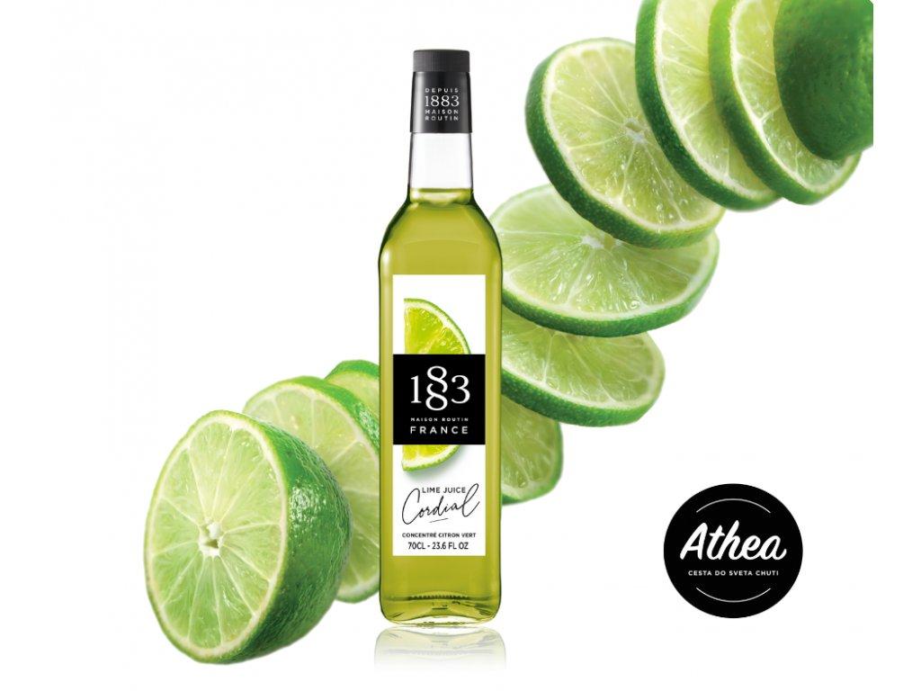 Lime Juice Cordial 1883 Routin 700ml