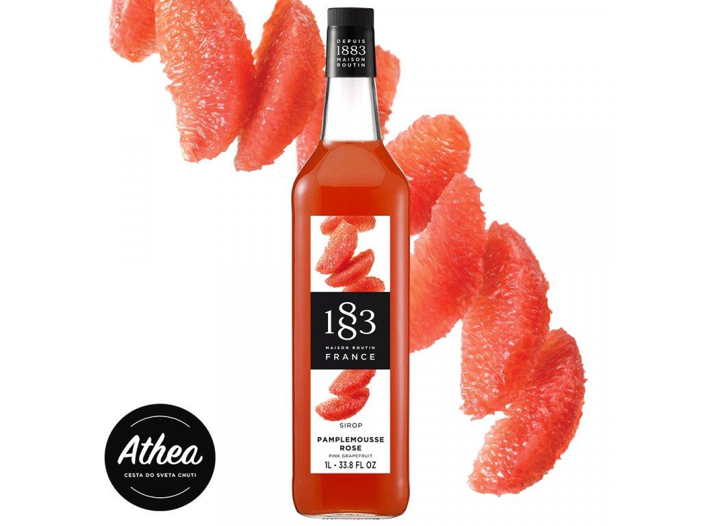 Grapefruitový sirup – Ružový grep 1883 Routin