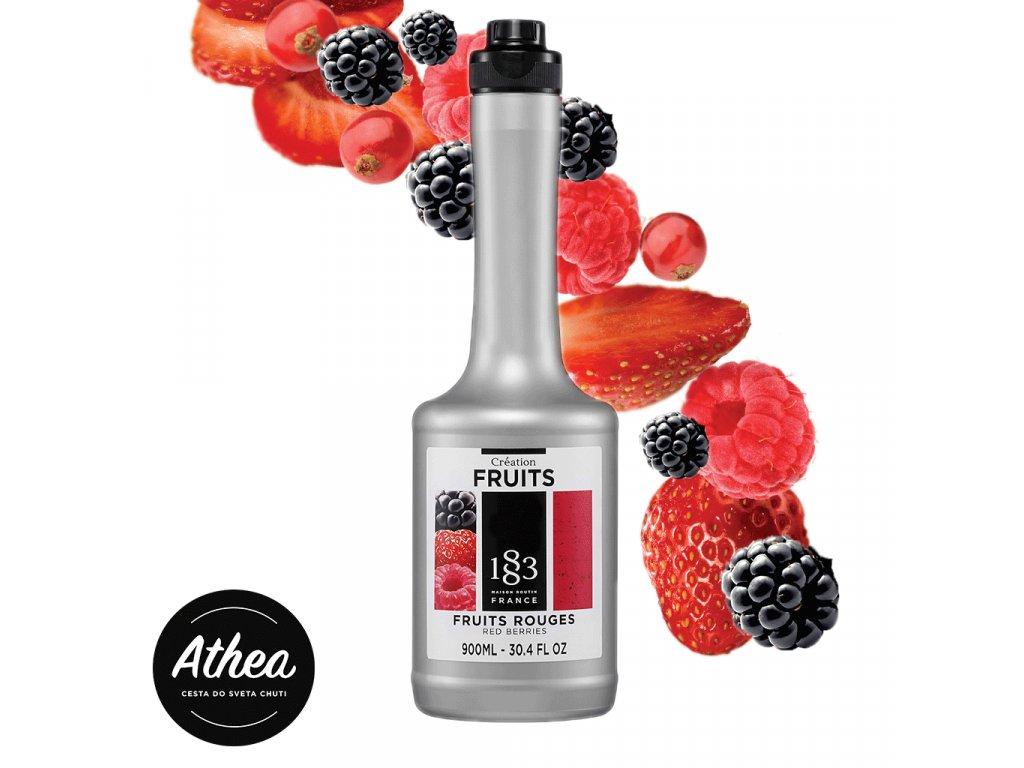 Red Berries ovocné pyré 1883 Routin 900ml