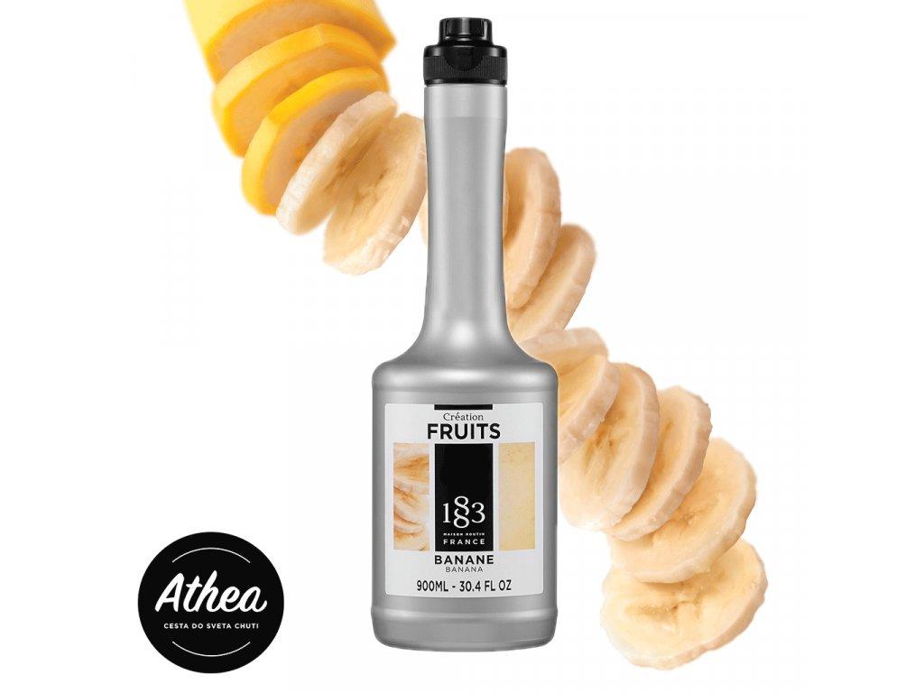 Banánové ovocné pyré 1883 Routin 900ml
