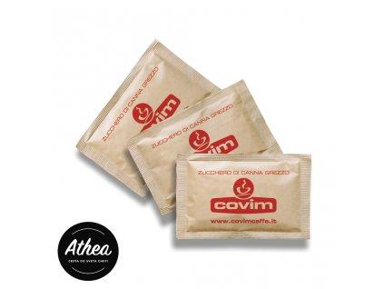 Cukor do kávy porciovaný COVIM trstinový