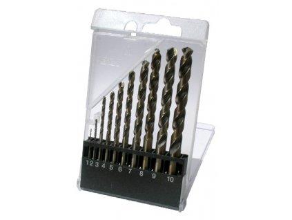 *Sada vrtáků do kovu 1,0-10,0mm / 1,0mm válcovaný  HSS-R DIN338 10ks