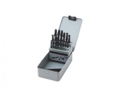 Sada vrtáků do kovu 1,0-13,0mm /0,5mm válcované HSS-R DIN338 25ks