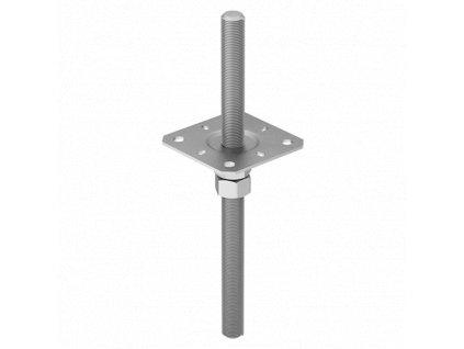 PPSR 80 Stavitelná patka sloupku 80x330x3,0 mm