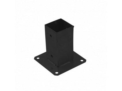 PSP 70 Patka sloupku 71x150x2mm se čtvercovou základnou černá