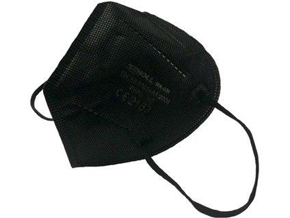 Respirator FFP2 bez ventilku, černý