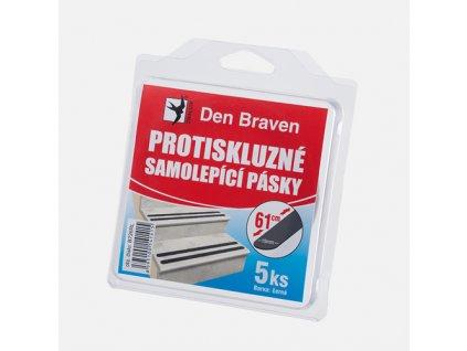 Protiskluzná samolepicí páska, 19 mm x 61 cm, 5 ks v blistru, černá