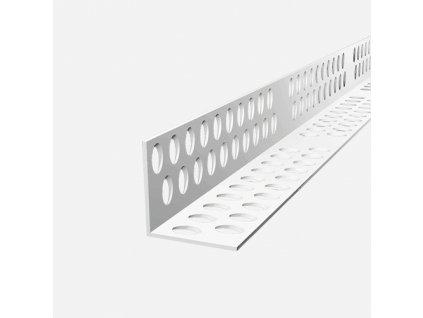 Rohový profil PVC ostrý L, 2,5m, plastový, bílý