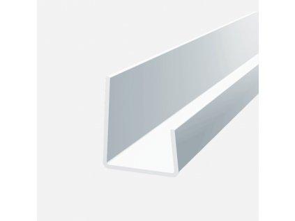 Lemovací profil plastový, bílý