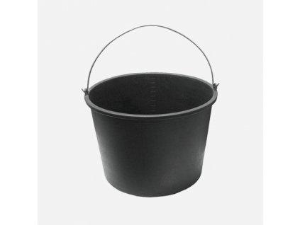 Vědro stavební, plastové, černé