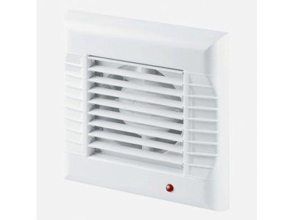 Ventilátor se žaluzií , Ø100, bílý