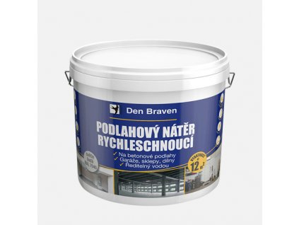 Podlahový nátěr  RYCHLESCHNOUCÍ, kbelík 4 kg, šedý