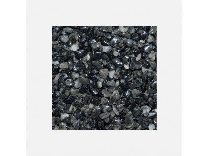Mramorové kamínky 3 - 6 mm, pytel 25 kg, černé - antracit