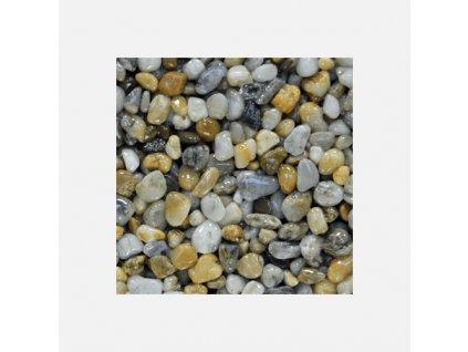 Říční kamínky 4 - 8 mm, pytel 25 kg, oblé