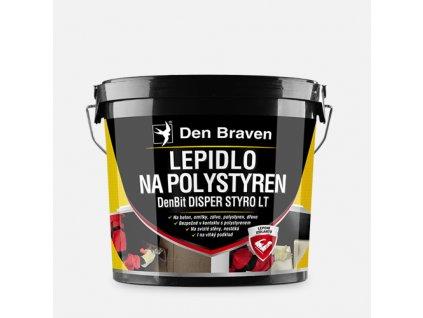 Lepidlo na polystyren DenBit DISPER STYRO LT, kbelík 10 kg, černé