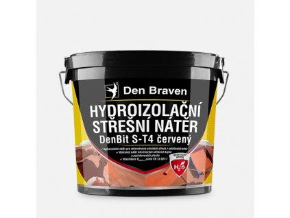 Střešní hydroizolační nátěr DenBit S-T4 červený