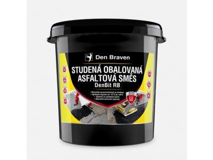 Studená obalovaná asfaltová směs DenBit RB, kbelík, 25 kg
