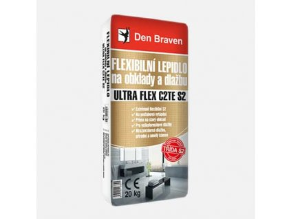 Flexibilní lepidlo na obklady a dlažbu ULTRA FLEX C2TE S2, pytel 20 kg