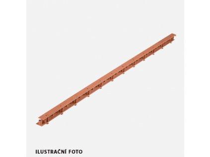 Ventilační element GRATE VENTI, 32 mm x 1000 mm, hnědý