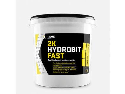 2K Hydrobit Fast - Rychletuhnoucí asfaltová stěrka, vědro 30 kg, černá
