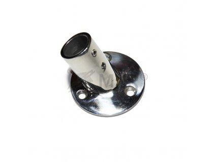 Patka zábradlí kruhová 25mm, nerezová A4