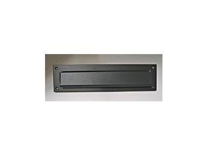 Dopisní vhoz hranatý 310x80 (270x25)mm ANTRACIT