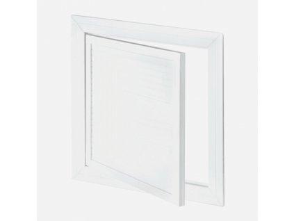 Revizní dvířka PVC, otočný zámek, bílá