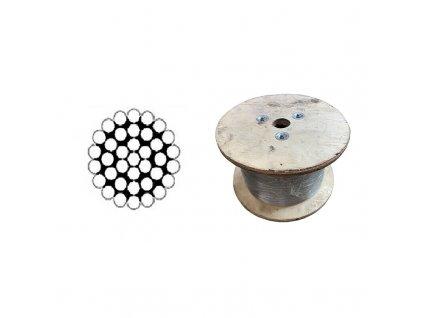 Lano ocelové DIN 3054 (1×37) holé, velká cívka