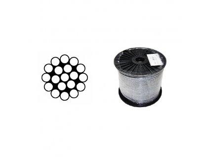 Lano ocelové DIN 3053 (1×19) malá cívka