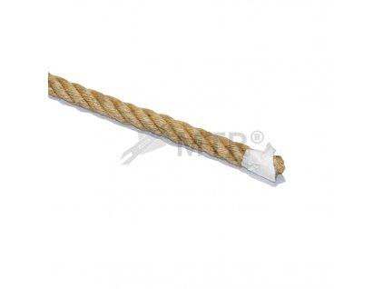Jutové lano 4 pramenné  - 18mm, 45m