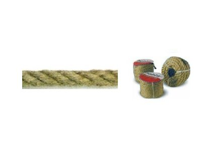 Jutové lano 4 pramenné  - 5mm, 20m