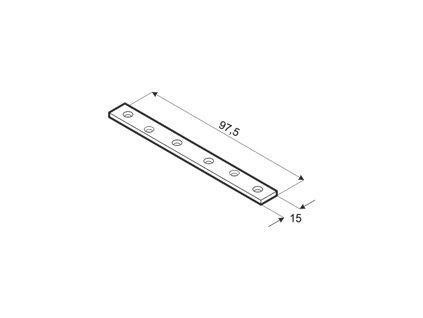 LW 100 spojka plochá úzká 97,5x15x1,5 mm (balení 4 ks.)
