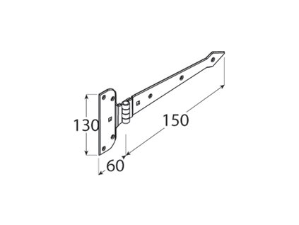 ZAB 150 Závěs 150x2,5 mm