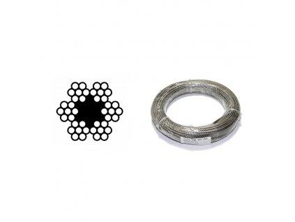 Lano ocelové DIN 3055 (6×7M-FC) svazek