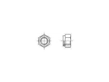 DIN 6924 matice samojist vysoká s nekovanou vl. Brown pozink