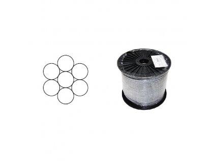 Lano ocelové DIN 3052 (1×7) malá cívka