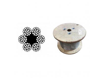 Lano ocelové DIN 3060 (6x19M-FC) velká cívka