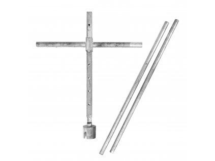 Ruční kříž pro montáž zemních vrutů typu G