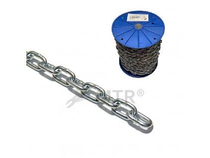Řetěz polodlouhý článek DIN 5685A, cívka