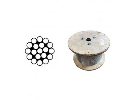 Lano ocelové DIN 3053 velká cívka
