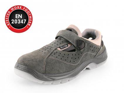 Obuv sandál CXS DOG COLLY O1, šedá