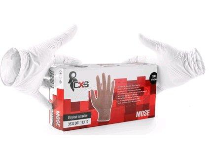 Jednorázové rukavice MOSE, vinylové