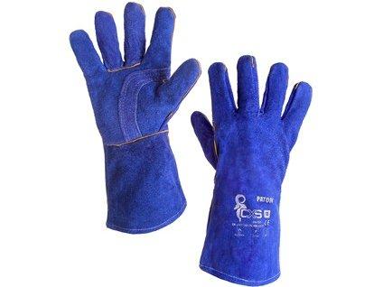 Svářecí rukavice PATON, modré, vel. 11