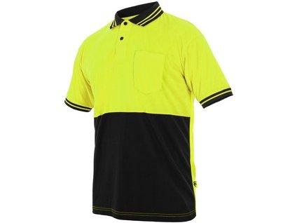 Polokošile LIAM, krátký rukáv, žluto-černá