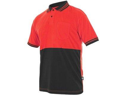 Polokošile LIAM, krátký rukáv, červeno-šedá