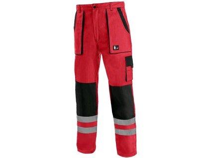 Kalhoty CXS LUXY BRIGHT, pánské, červeno-černé