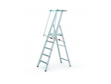 ZAP Safemaster S žebřík s velkou plošinou, Pracovní výška: 4,34 m